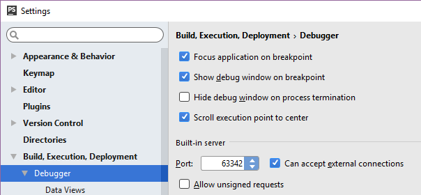 Settings/BuildDeploymentDebugger